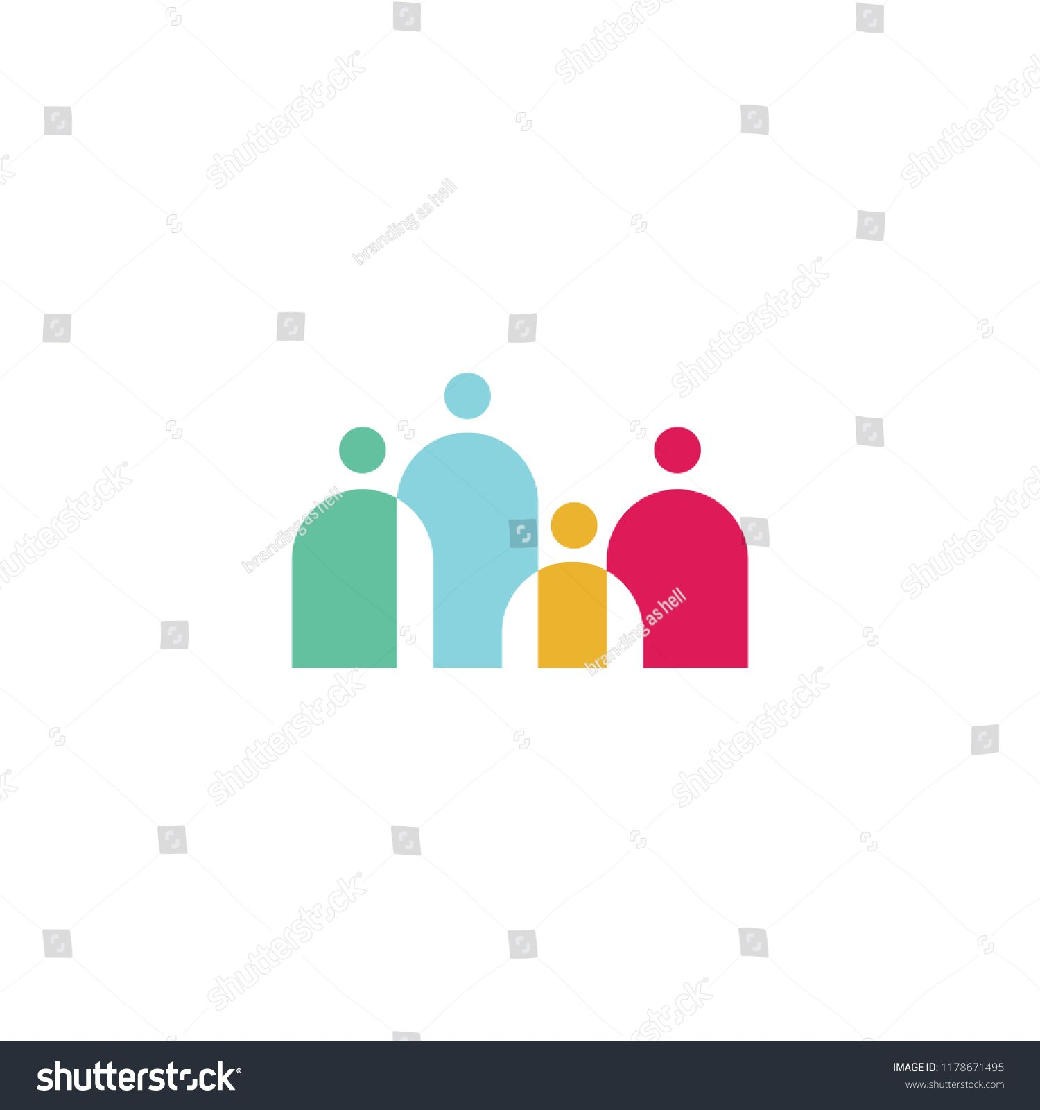 People Family Together Human Unity Logo Vector Icon Icon Logo