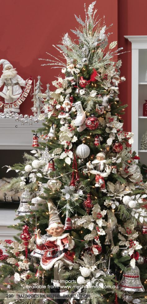 Raz Imports decorated Christmas Tree Noël Pinterest Decorated