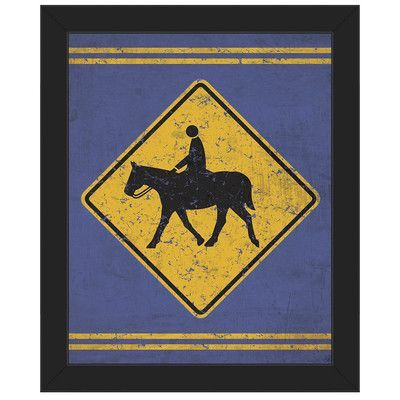 Click Wall Art \'Horse and Rider\' Framed Graphic Art on Canvas Frame ...