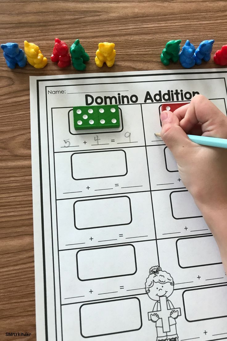 Free Printable Domino Addition Simply Kinder Homeschool Math Math Classroom Math Addition Free simple addition games for