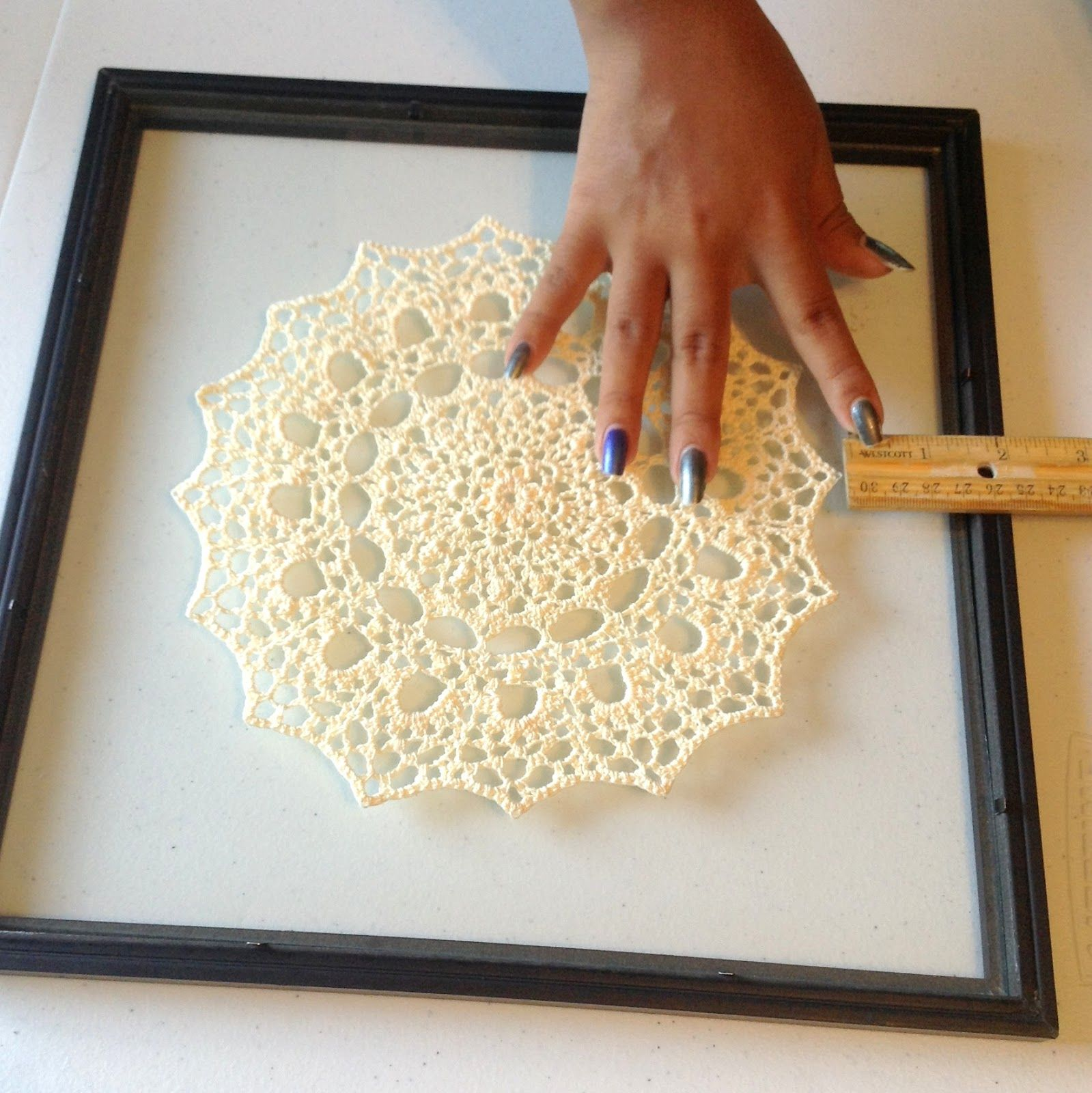 How To Frame Your Crochet Art This week I\'ve given you a step by ...