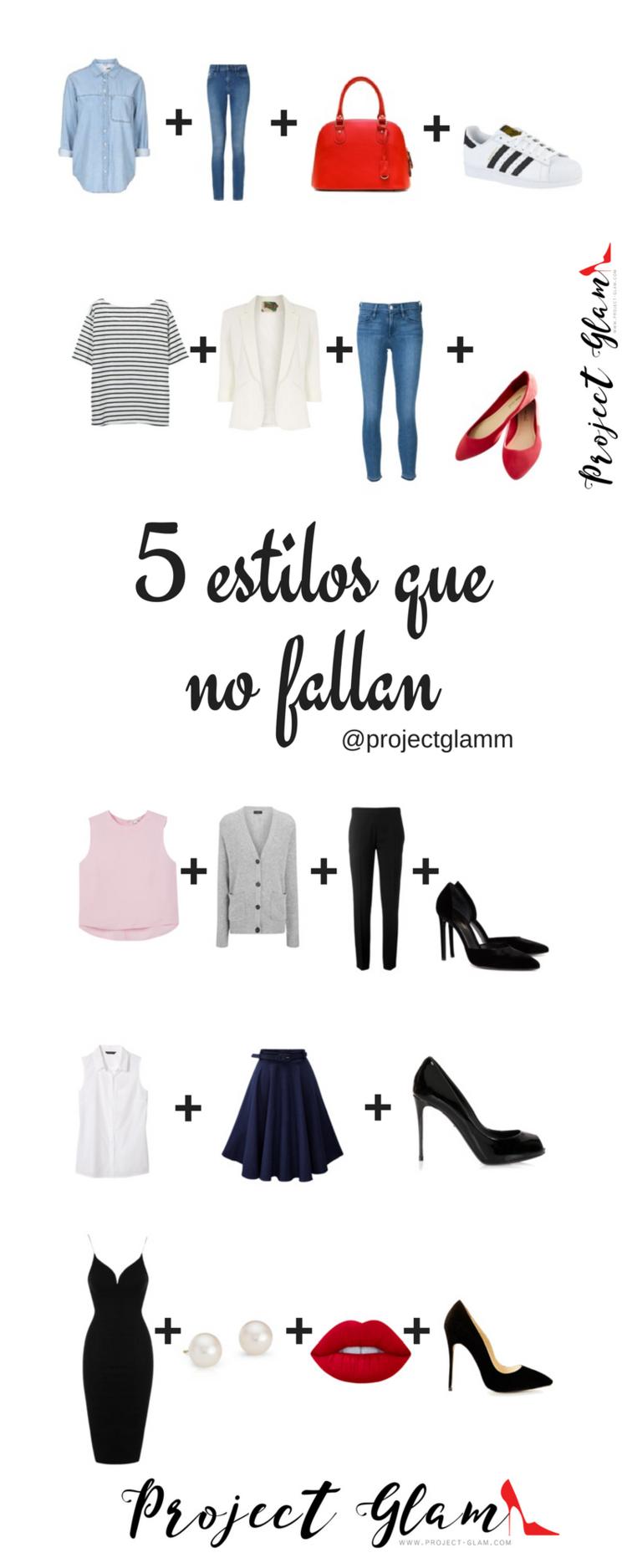 En este post, compartimos unas combinaciones que, a modo de fórmula, resultan exitosas para nosotras las mujeres. Fíjate que utilizamos varias piezas básicas y algunas prendas de tendencia.