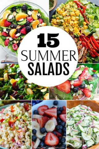 Summer Salad Recipes- 15 of the best easy summer salads images