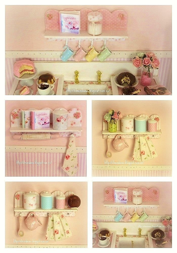 Puppenstube, Miniatur Küche, Mini Küche, Miniatur Lebensmittel,  Miniatur Puppenhaus, Miniaturmöbel, Dollhouse Möbel, Feen Garten, Möbel