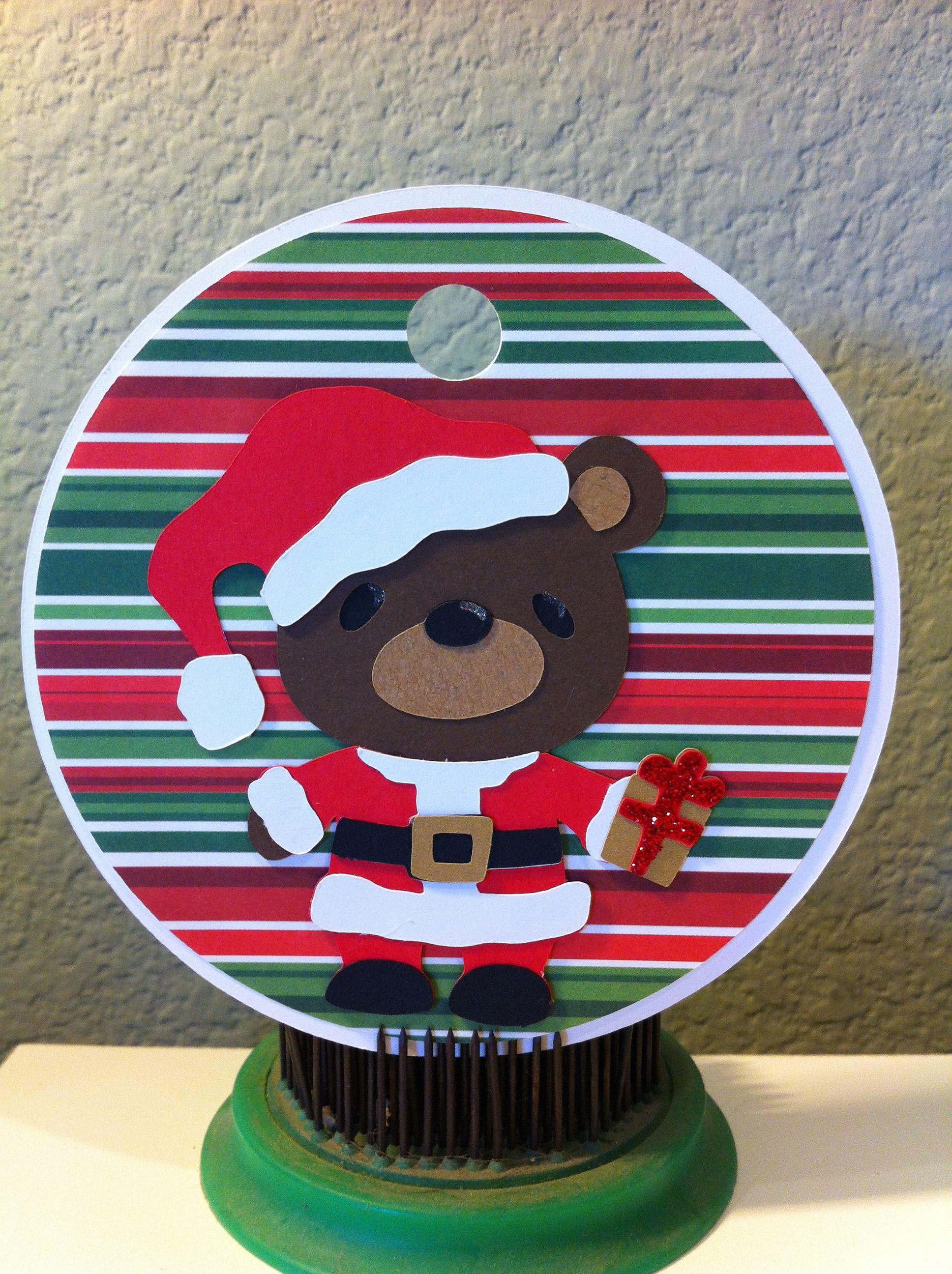 Cricut Christmas tag using Teddy Bear Parade