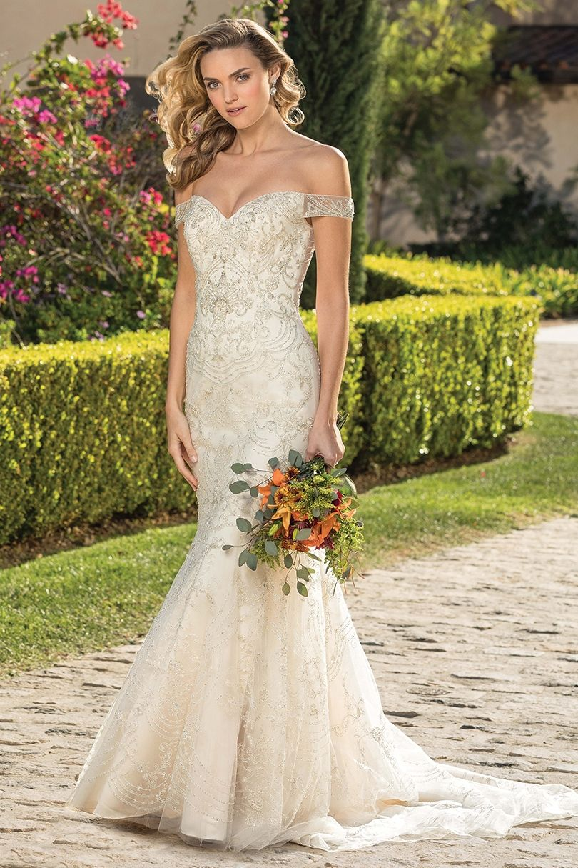 Champagne and ivory wedding dress  Style  Bianca Sample Size  in Champagneivorysilver