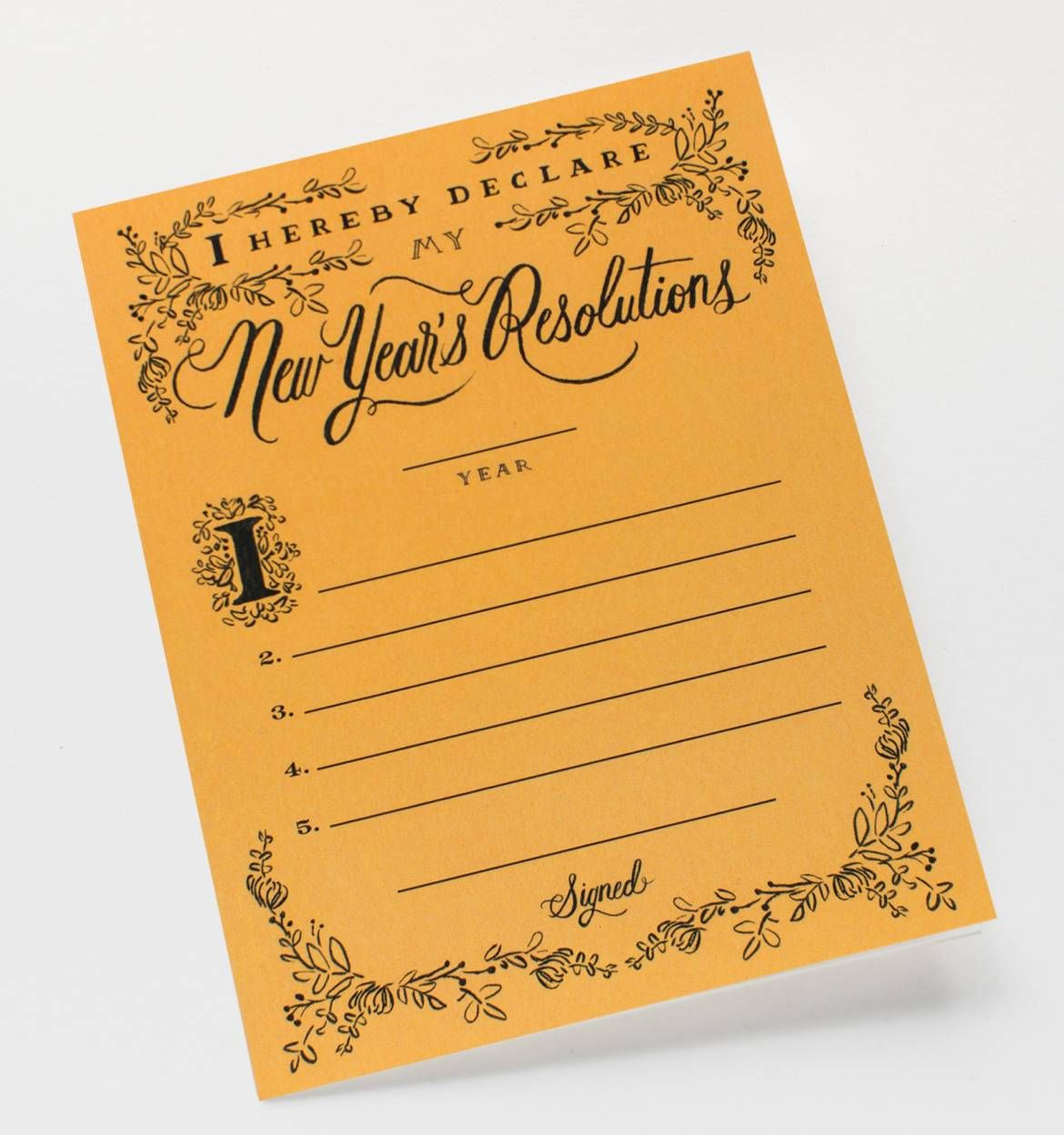 Cute card for New Year's Resolutions! itsthreethirty.com ...