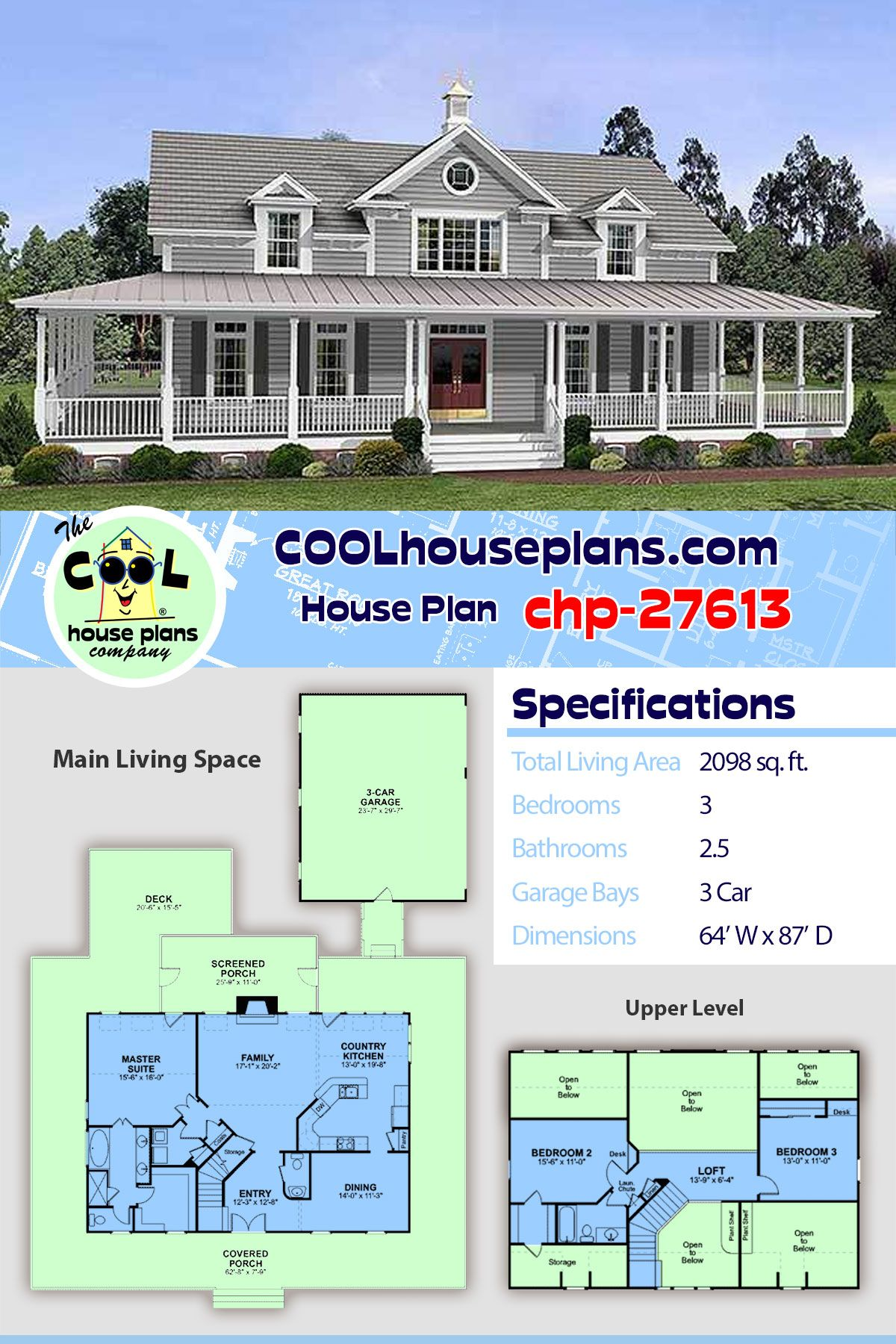 Pin On Southern Style House Plan Collection