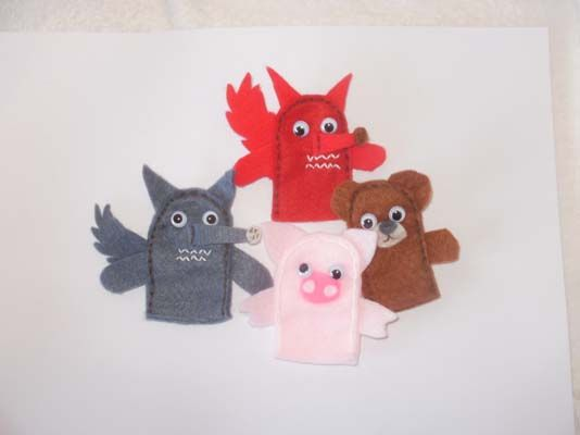 puppets of the most popular tales
