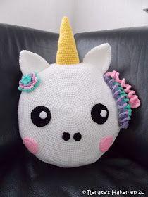 Renates Haken En Zo Patroon Kussen Eenhoorn Unicorn Cadeautjes