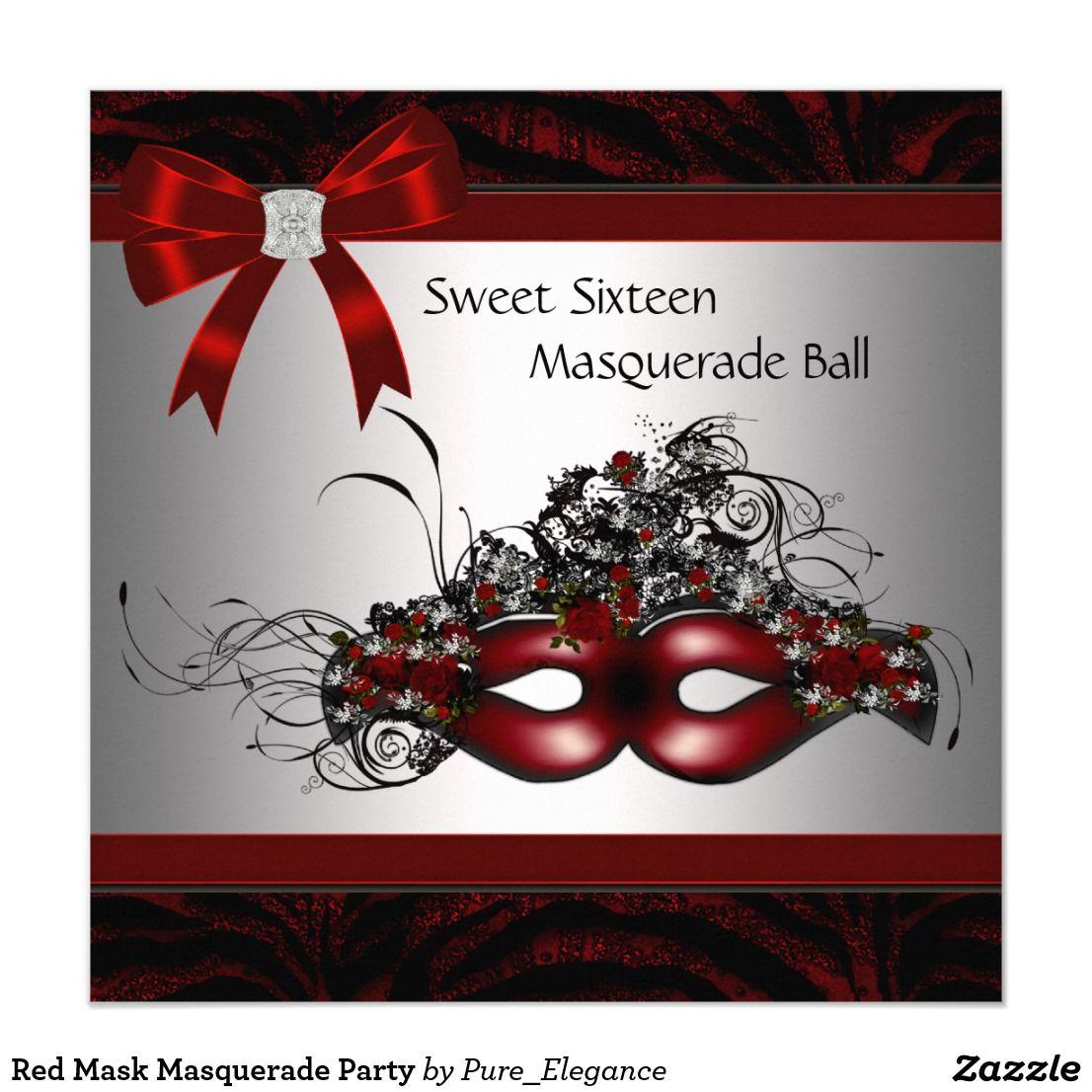 Fantastic Mask Invitations Masquerade Party Mold - Resume Ideas ...