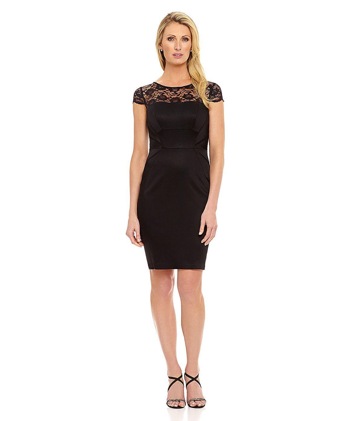 Jax Illusion Lace Sheath Dress   Dillards.com   Jax Dress ...