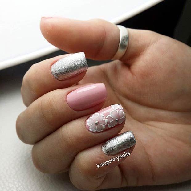 23 Elegant Nail Art Designs for Prom 2018 | Pinterest | Metallic ...