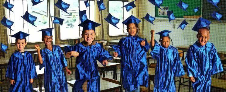 Arreglos de graduación infantil para primaria