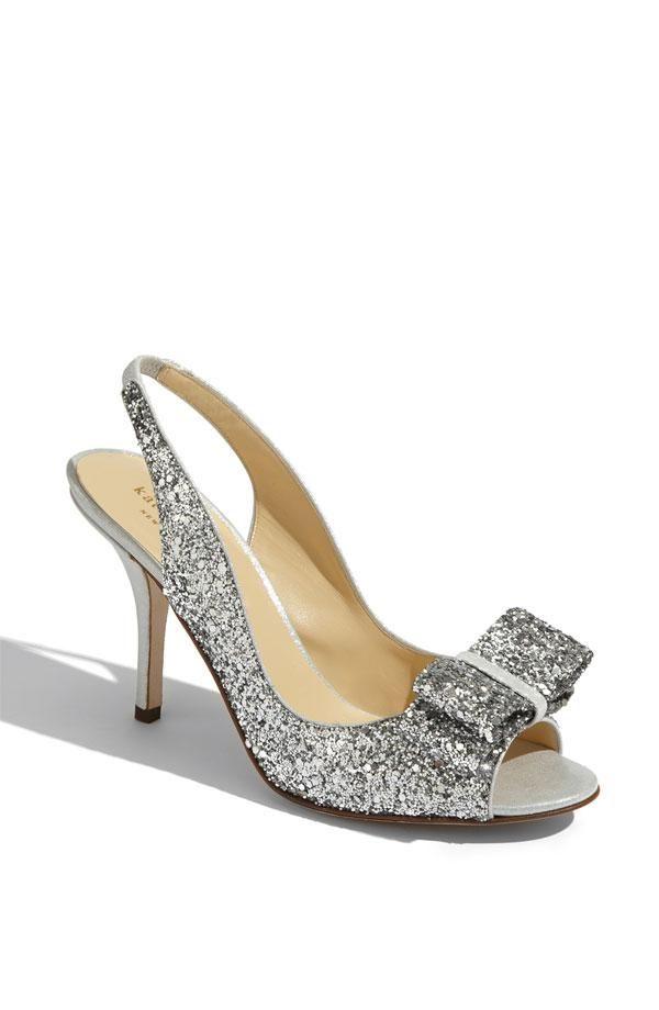 Sparkle on the big day | Kate Spade glitter slingback pump