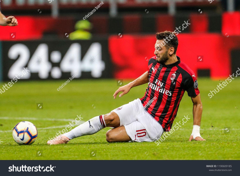 Milan Italy 23 09 2018 Campionato Italiano Serie A Milan Atalanta 2 2 Hakan Calhanoglu Milan Campionato Milan Italy Hakan