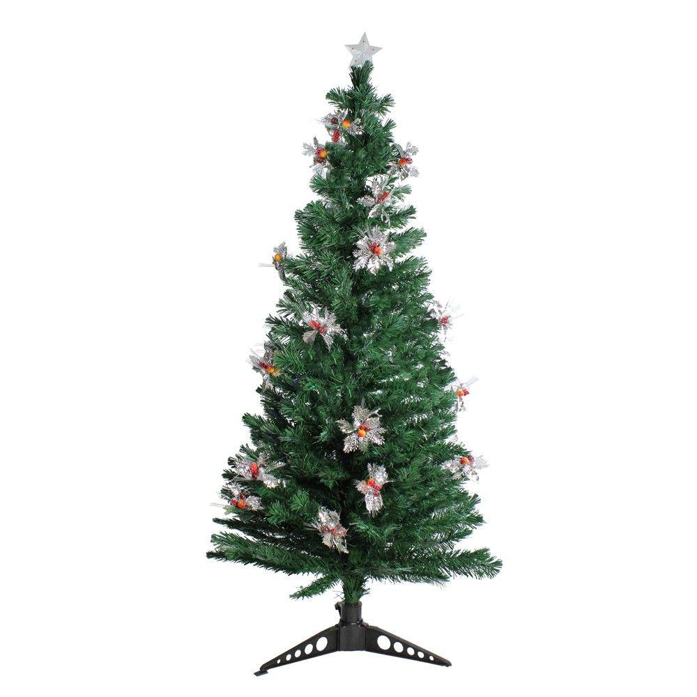 Northlight 5 Prelit Artificial Christmas Tree Fiber Optic With
