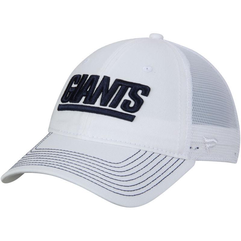 8a415c59b079fb New York Giants NFL Pro Line by Fanatics Branded Vintage Core Trucker  Adjustable Snapback Hat - White/White