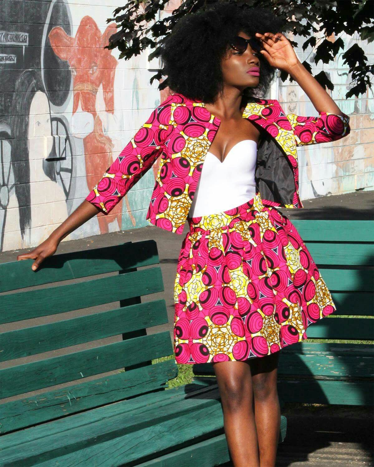 1000 Images About African Print 2 Piece Outfit On: Gorgeous Pink And Yellow African Print Two Piece Blazer