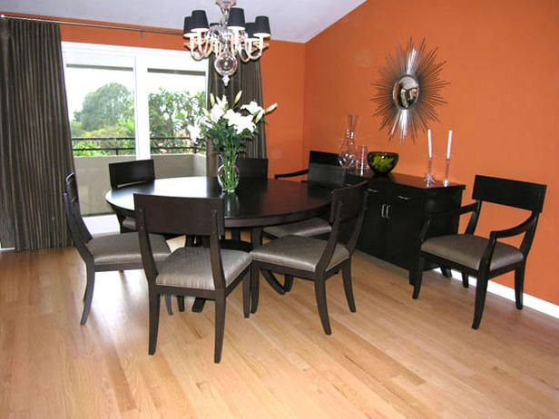 Lovely We Warm Up This Formal Living And Dining Room With Punchy Paint Colors,  Bold Patterns · Orange Dining RoomGrey ...