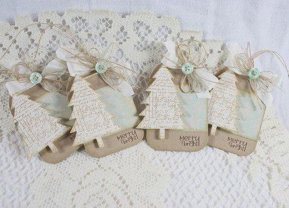 handmade holiday gift tags set of 4 geschenkanh nger. Black Bedroom Furniture Sets. Home Design Ideas