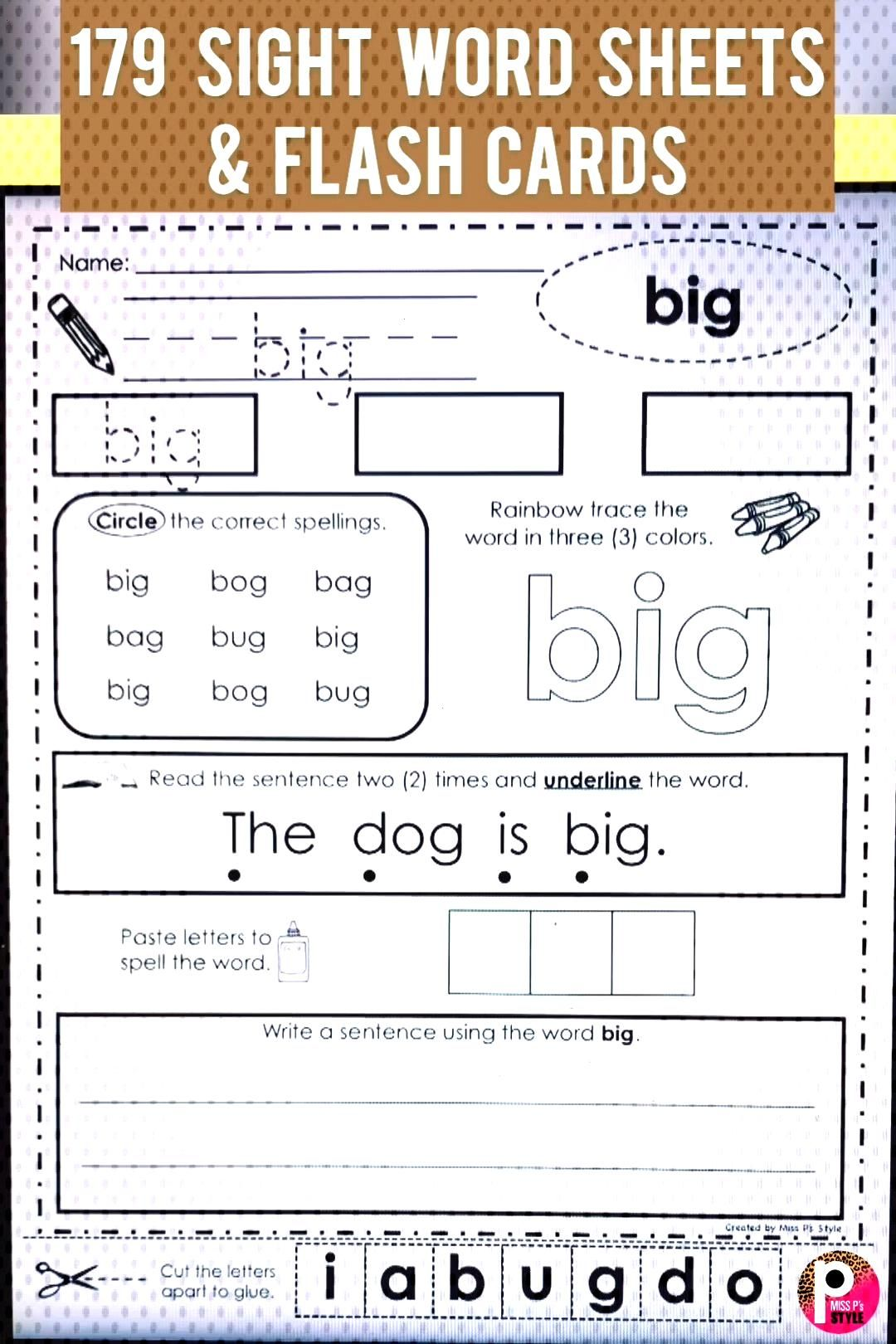 Independence Handwriting Worksheets Repetitive