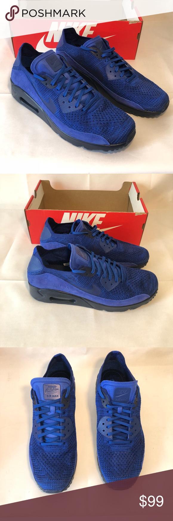 0fc728485dd74 Nike Air Max 90 Ultra2.0 Flyknit 875943-Blue Royal Nike Air Max 90 ...