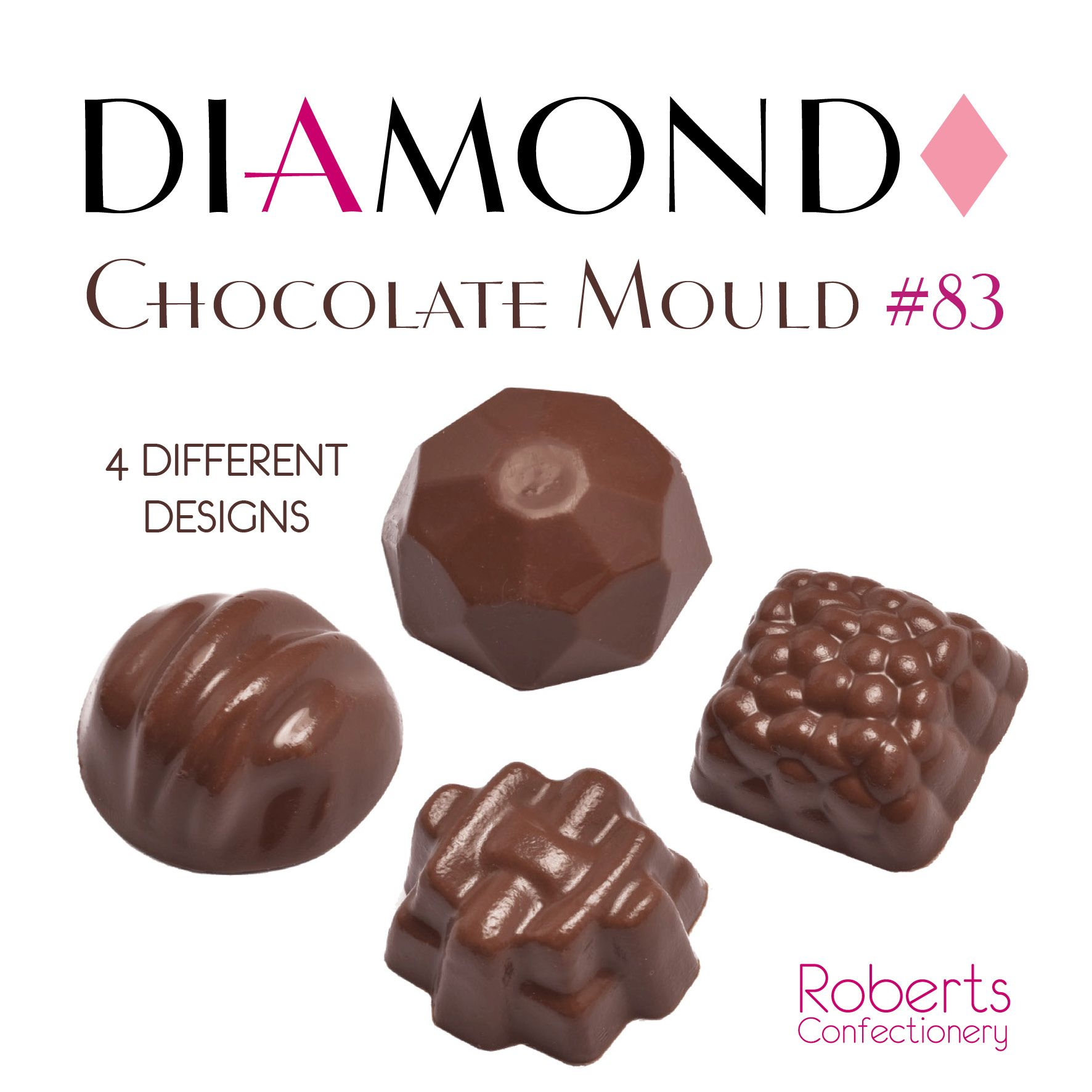 Roberts Confectionery Diamond Chocolate Mould 83