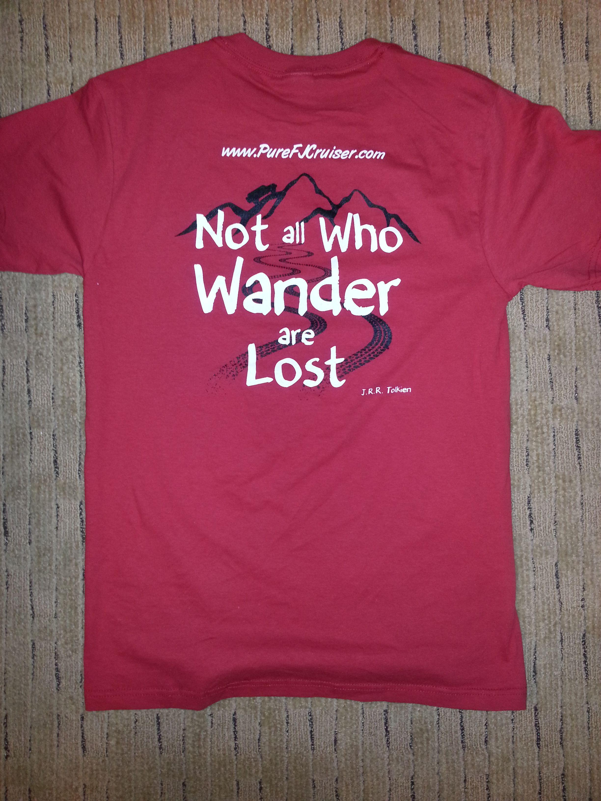 Pure FJ Cruiser T-shirt [PFJ-WanderT] - $10.00 : Pure FJ Cruiser Accessories, Parts and Accessories for your Toyota FJ Cruiser