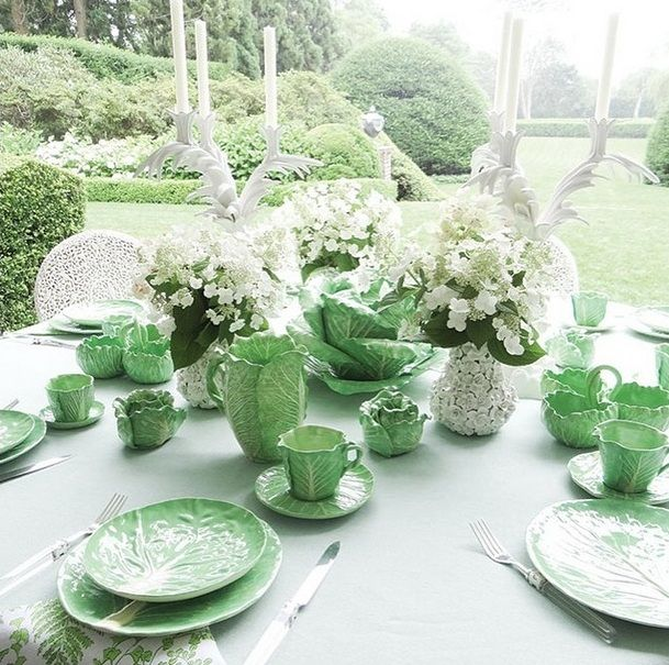See The Dodie Thayer Lettuce Leaf Dinnerware Collection For Tory Burch Spring 2015 & See The Dodie Thayer Lettuce Leaf Dinnerware Collection For Tory ...