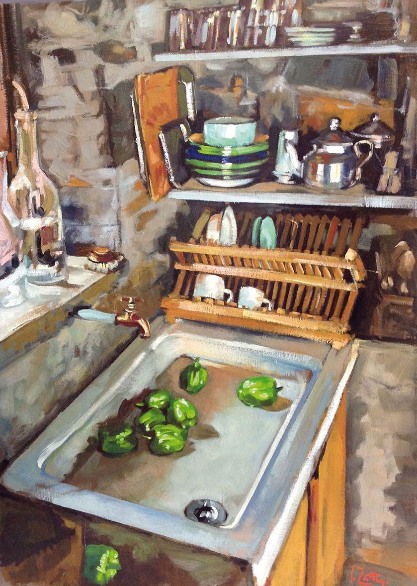 L Evier 70x50 Huile Sur Toile Art Pinterest Eviers Huile Sur