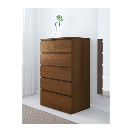 Best Malm Chest Of 6 Drawers White Stained Oak Veneer 80X123 640 x 480