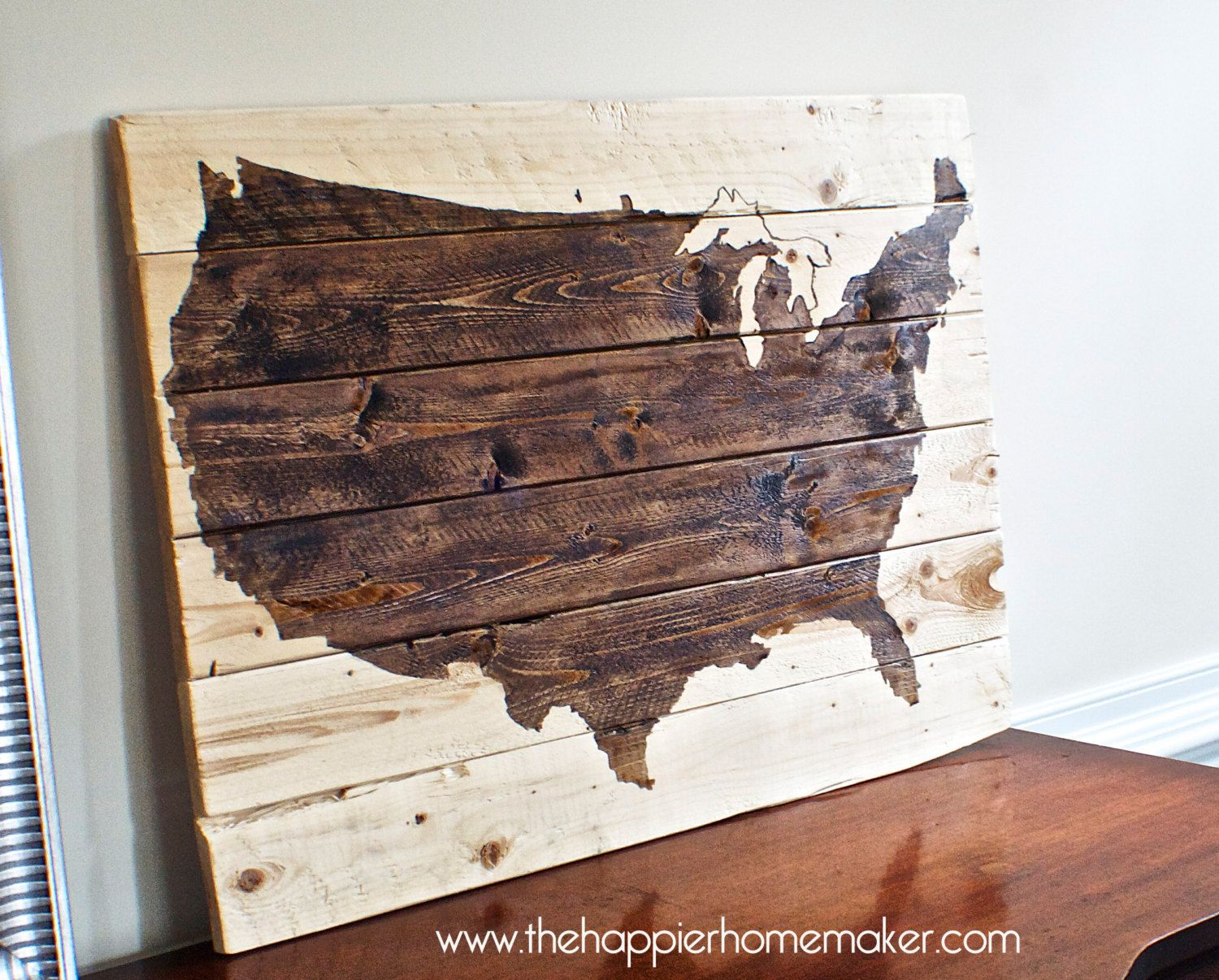 "Us Map Wall Art rustic wood united states us map wall art 21"" x 31"". $140.00, via"