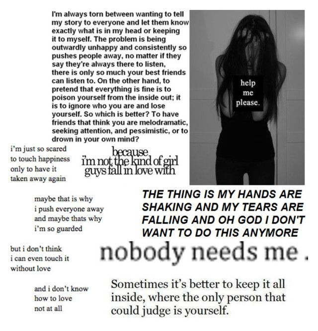"""I don't know anymore.."" by bullying-stops-here259 ❤ liked on Polyvore"