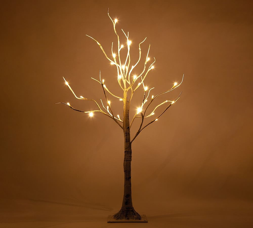 Light Up Led Faux Birch Trees Decorating With Christmas Lights Twig Tree Outdoor Christmas Decorations Lights