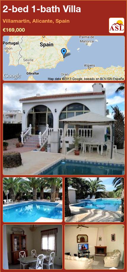 2-bed 1-bath Villa in Villamartin, Alicante, Spain ►€169,000 #PropertyForSaleInSpain
