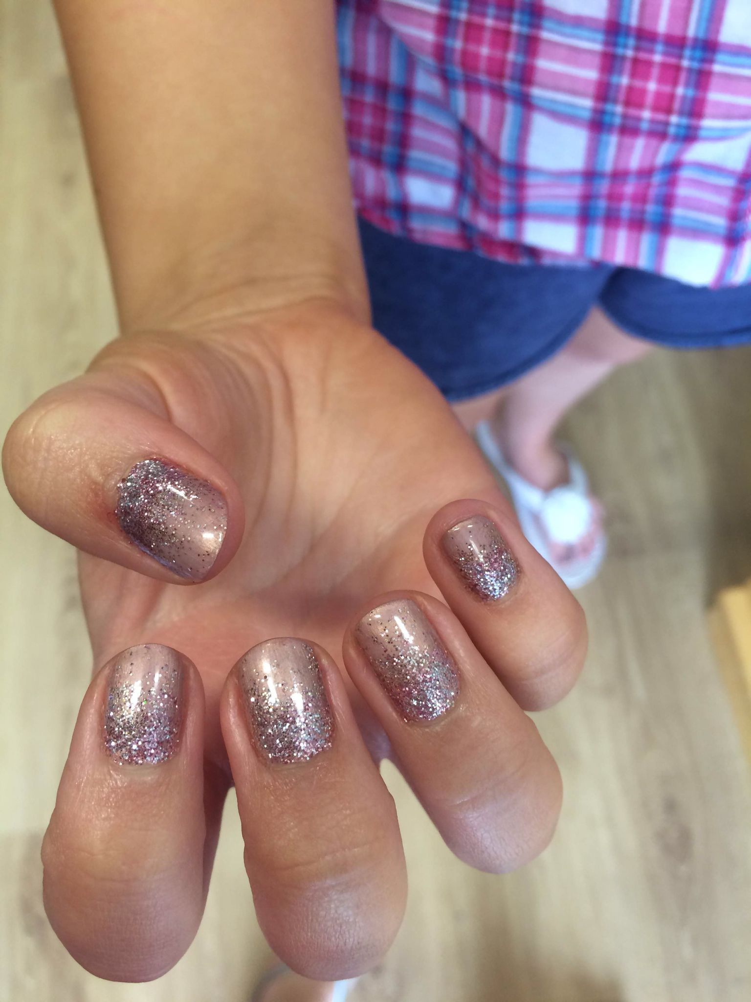 CND Shellac iced cappuccino with bronze glitter ombré ☕ ✨ | Nails ...