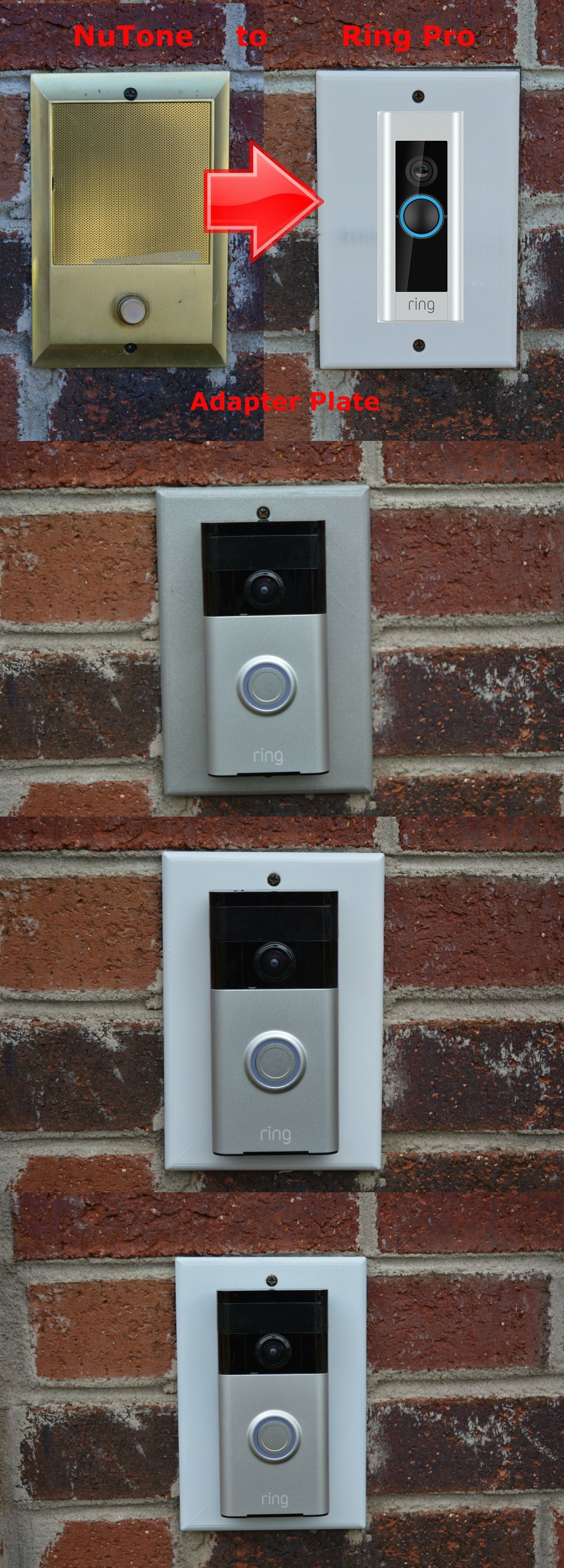 Doorbells 115975 Ring Pro Doorbell Adapter Plate Nutone And Mands Intercom Systems Buy It Now Only 27 84 On Ebay Doorbe Ring Doorbell Doorbell Intercom