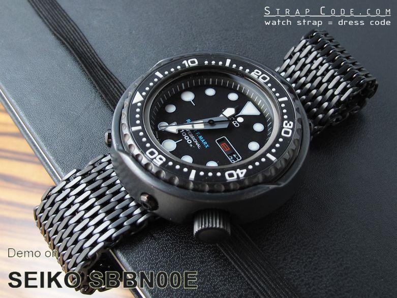 Submariner Clasp PVD Black finish on Seiko Tuna