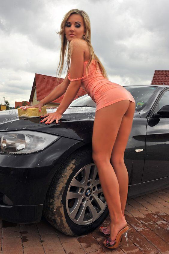 ass Hot wash girls car