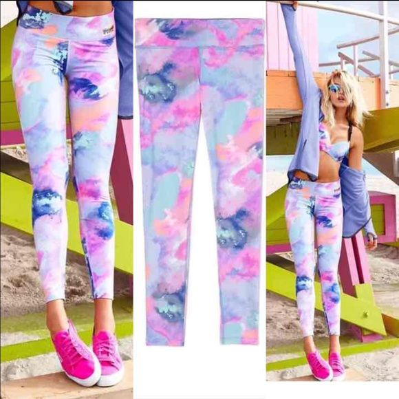 Large Pink Ultimate Leggings Pastel Marble Nwt Cheaper