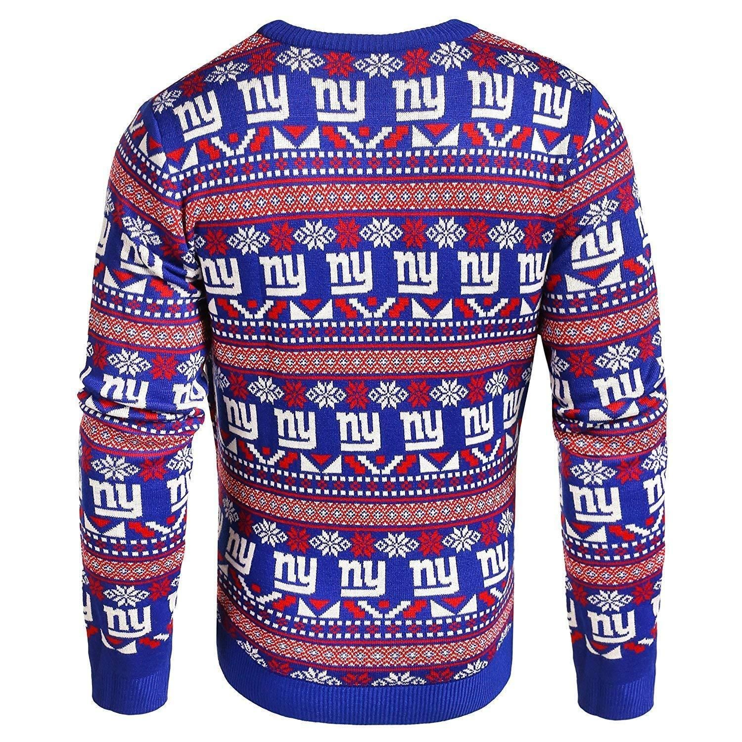 aa1c5b693 Forever Collectibles NFL Men s New York Giants Aztec Print Ugly Sweater