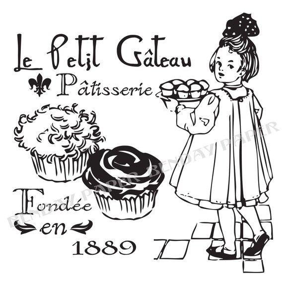 A Little Vintage Cupcake Dessin Noir Et Blanc Etiquette A