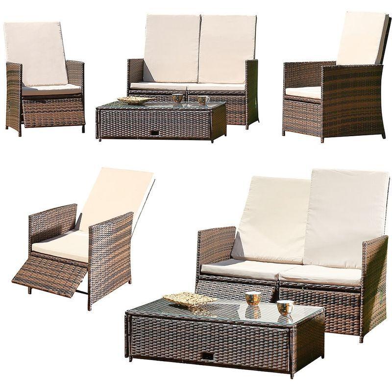 Mobilier De Jardin Group De Meubles Canape Rotin Lounge