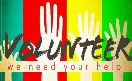 many hands make light work themed bulletin board volunteers