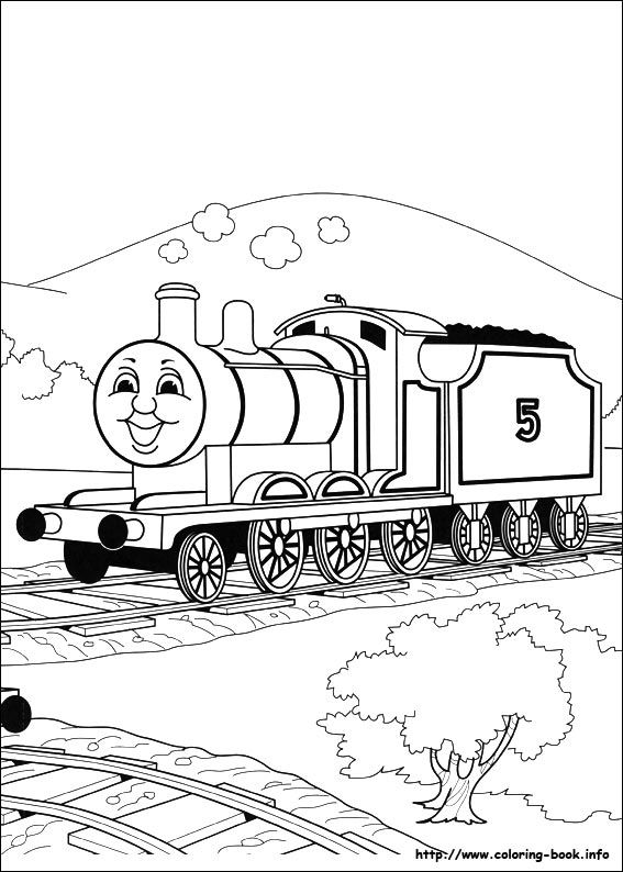 Thomas And Friends Coloring Picture Train Coloring Pages