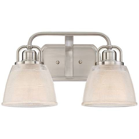 "Quoizel Dublin 15 3/4"" Wide Brushed Nickel Wall Sconce - #1P811 