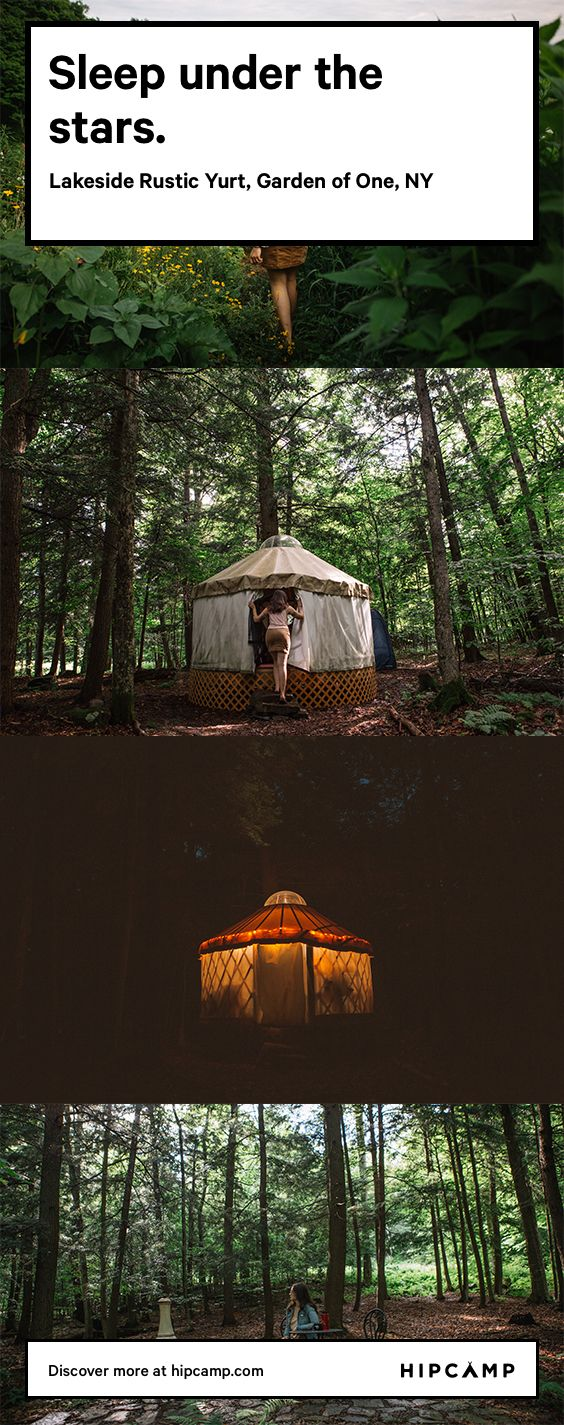 Lakeside Rustic Yurt Rustic, Round house, Glamping