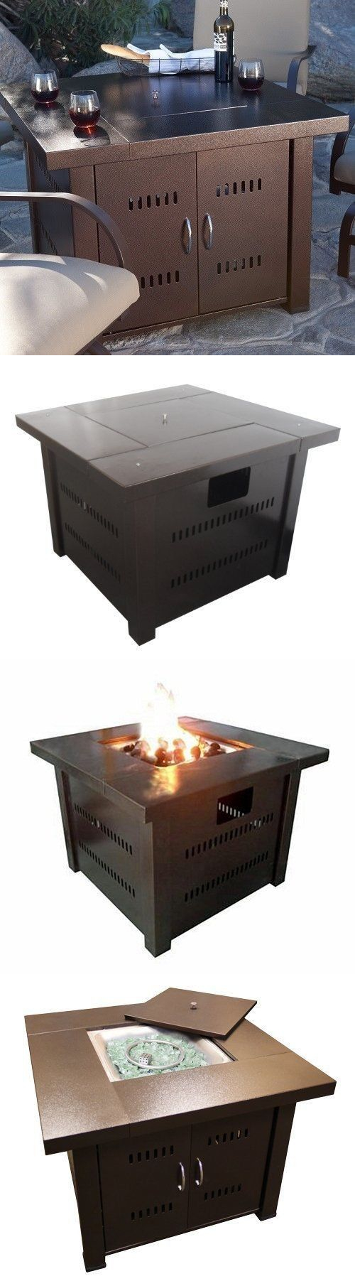 Fire pits and chimineas propane fire pit table outdoor patio