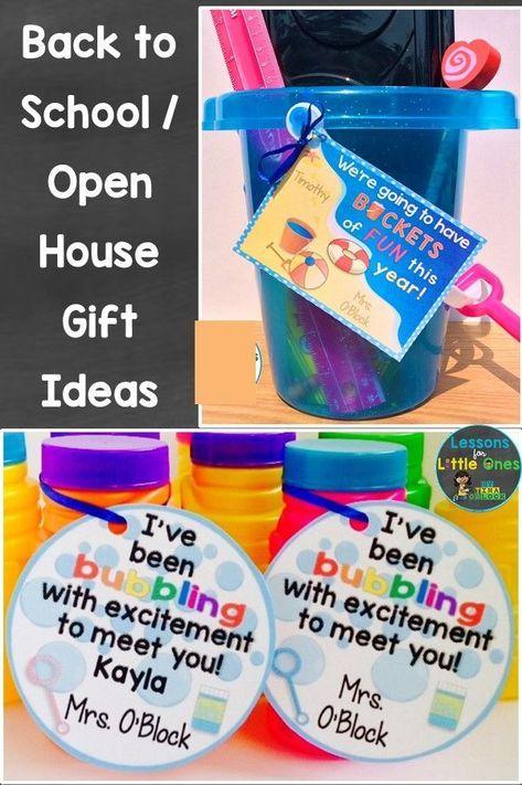 Back to School, Open House, Meet the Teacher Student Gift Ideas & Gift Tags #meettheteachernight